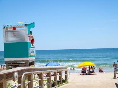 Collection Carolina Beach lifeguard stand and beach access
