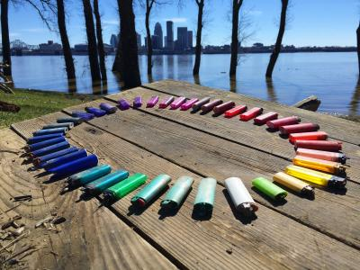 Al Gorman lighter rainbow w_ Louisville skyline