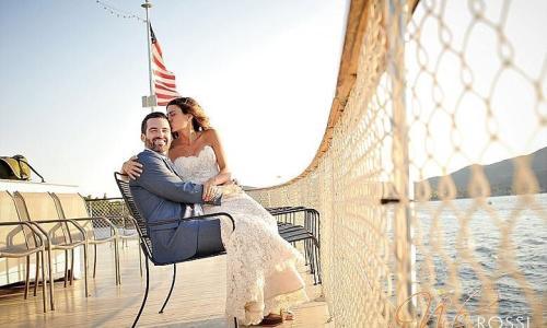 Lake George Shoreline Cruises Bridal Couple