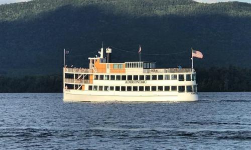 Lake George Shoreline Cruises Boat on Lake