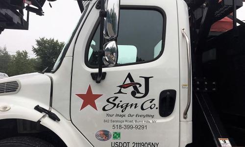 AJ Sign Company Truck