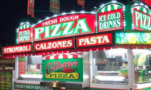 Saratoga County Fair pizza booth