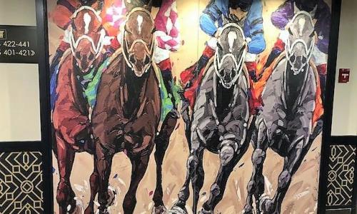 AJ Sign Company Horse Racing Panel
