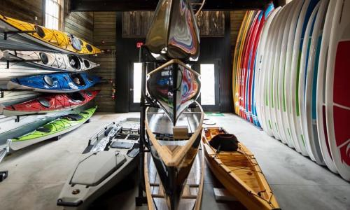 Lake George Kayak inside boathouse