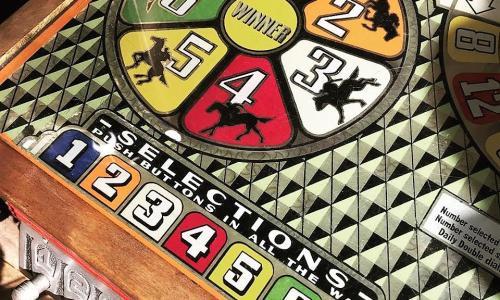 Dark Horse Mercantile closeup of racing game