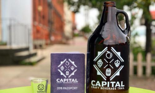 Capital Craft Beverage Trail growler and shot glass