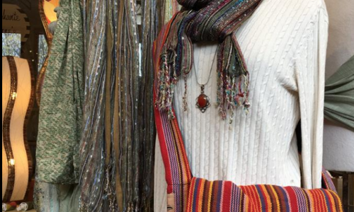 Scarves, handbags, jewelry...Mango Tree gift shop stocks a full line of women's fashion accessories