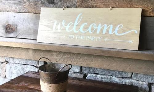 Yard Bar Welcome Sign