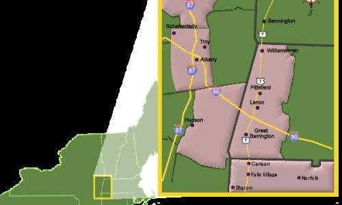 Berkshire Map Image