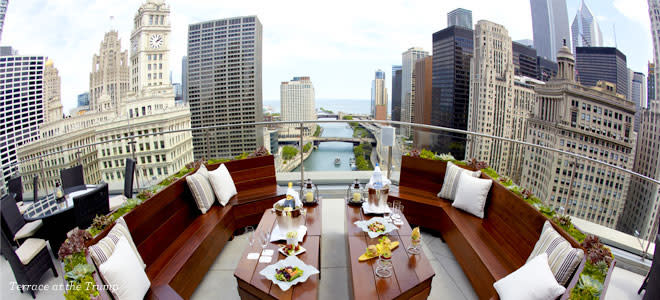 The view from The Terrace at Trump International Hotel