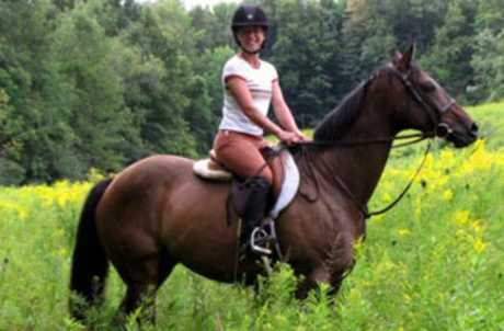 Claire Affleck Training Spring Riding2