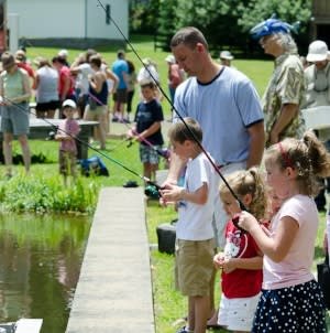Fishing Derby at Hanford Mills