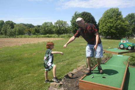 Mini golf at Wickham Farms