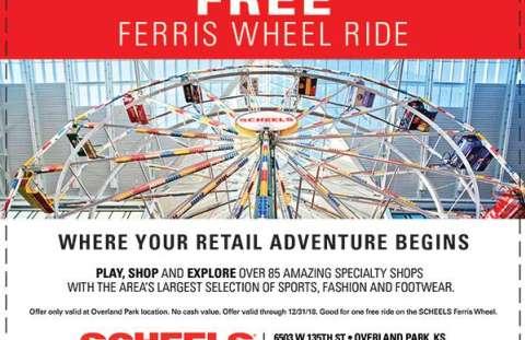 Scheels Overland Park Ferris Wheel Coupon