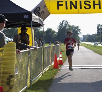 Rib Run finish line