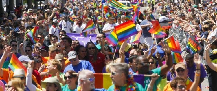 Tampa Pride Parade Wide