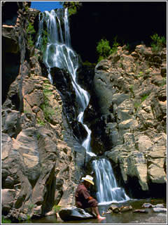 Waterfall at bandieler national monument