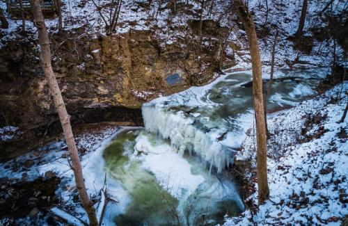 Indian Run Falls Frozen