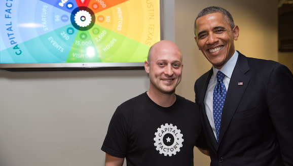 Capital Factory Baer with Obama