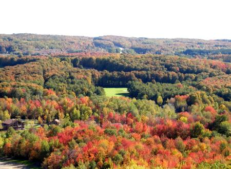 The view from Schuss Mountain at Shanty Creek Resorts