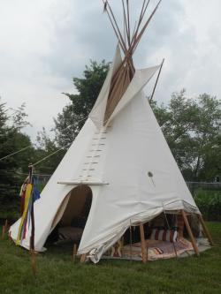 You must check out tipi village while at National Powwow.