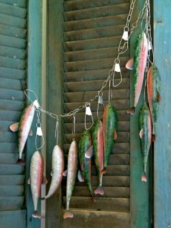 Rainbow trout gourds at Berries & Ivy Country Store in Martinsville