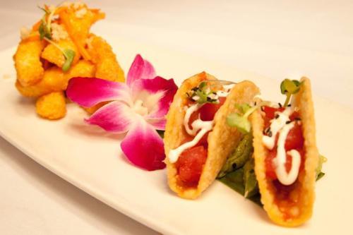 Do Taco Tuesday Hawaiian style with Don's Ahi Poke tacos! (Photo courtesy of Don the Beachcomber)