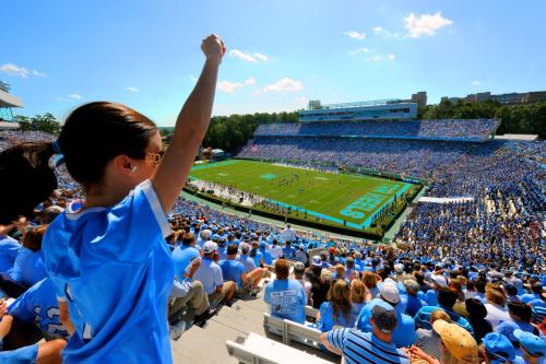 UNC Kenan Stadium from the stands