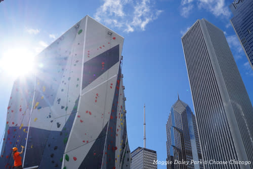 Maggie Daley climbing wall
