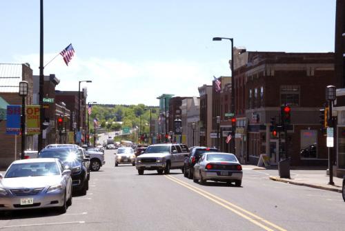Bridge Street in Chippewa Falls, Wisconsin - Timber Trails Audio Tour