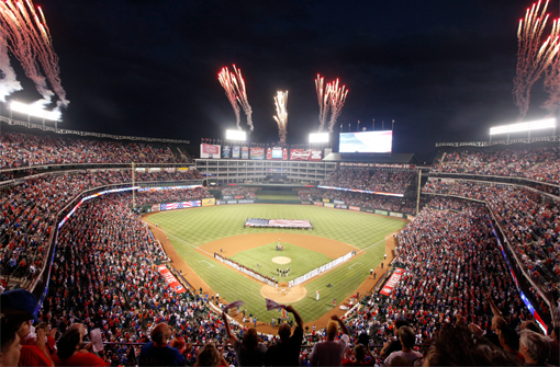 Texas Rangers Fireworks