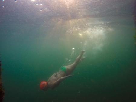 Open water swimming at Owen Beach 01