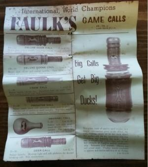 Faulk's Game Calls Catalog