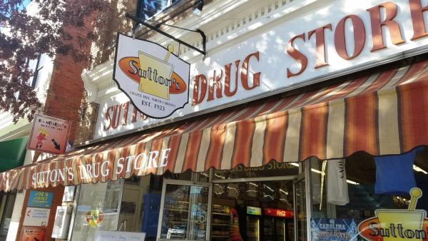 Suttons Drug Store Sign