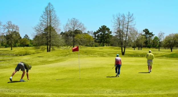 Golfing Red Flag