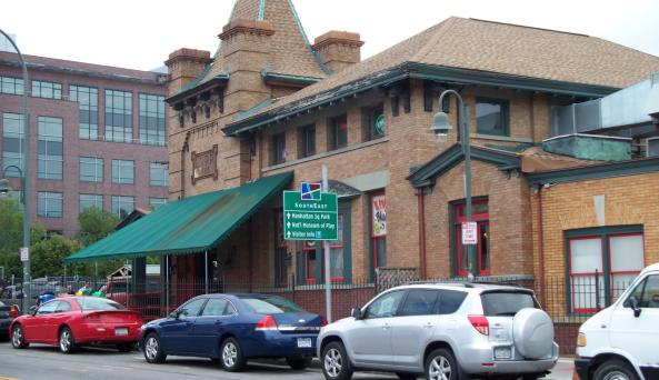 Dinosaur BBQ in Rochester, NY is located in a old train station overlooking the Genesee River