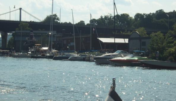 The Hudson River Maritime Museum's campus from Rondout Creek