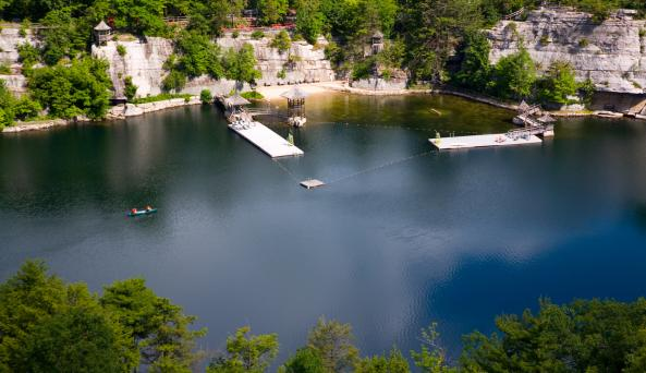 Aerial View of the Beach at Mohonk Mountain House