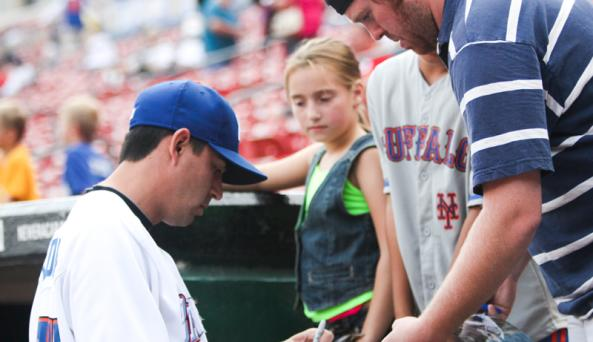 Get an autograph from one of baseball's future stars.