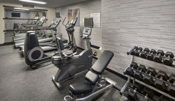 Stay in shape on the road at our state-of-the-art fitness center