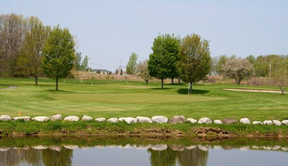 Water hazard along the course at CenterPointe Country Club