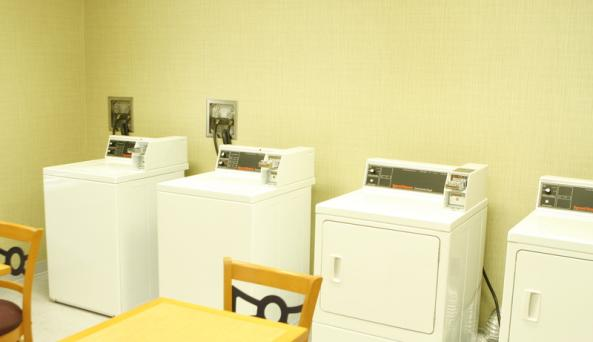 24-hour Self Serve Laundry Room