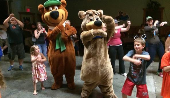Dancing with Yogi Bear™ and Boo Boo™