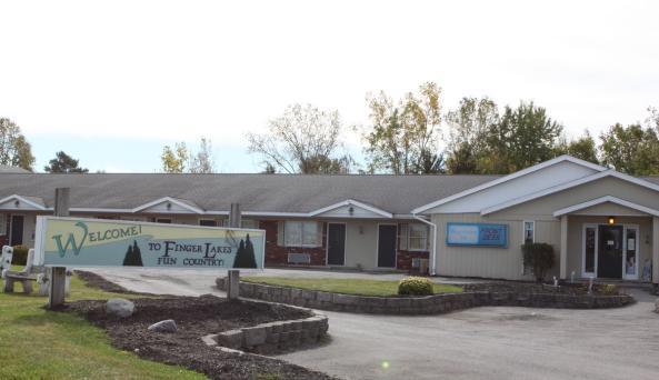 Outside of Finger Lakes Lodge