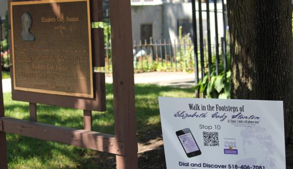 Elizabeth Cady Stanton Walking Tour Sign