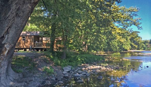 Rustic River Cabin Exterior