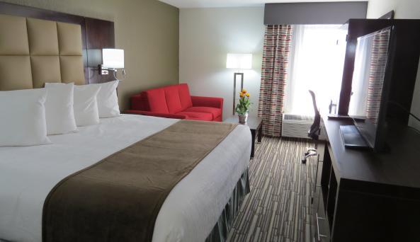 King room with sleeper sofa
