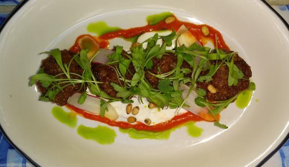 Spicy Lamb Keftes at Rotisserie Georgette
