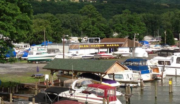 Marina and boat rentals on Seneca Lake