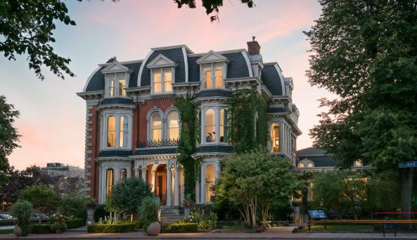 The Mansion on Delaware Avenue at Twilight